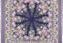 Large Russian Shawls / Large Pavlovo Posad wool shawls. View them all in russian-shawls.com