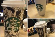 STARBUCKS CUP / Paper cup ART by GANZ