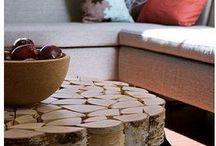 Annorlunda bord / Bord gjord av björkved