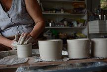 From my studio / Work in progress in my ceramic studio in Denmark