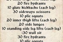 Squat, lunge, Sit up & Repeat