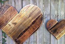 Wood Heart деревянные сердце