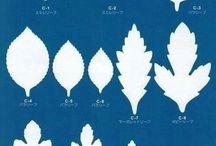 шаблоны цветов и листьев для скрапбукинга