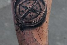 Compass tattoos / #Compass #Map #Travel #Wanderlust #Tattoo #Tattoos #Tattooed #Skinart #Tat #Tattooart #Art #Design #Tattoodesign #Tatooisme #Tattooism #Ink #Inked #Quotes
