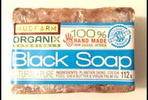 Natural Acne Soap / Use African Black Soap for Naturally helping to relieve and diminish Acne, Blemishes, Rough Skin and more. Use daily on your skin and hair for beautiful results from the natural powerful cleanser from African.