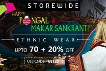Makar Sankranti & Pongal 2016 Offers @Ethnic Wear / Best Online Offer @Ethnic Wear  bit.ly/1P6Dw6y # sankranti # Pongal