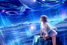 달 과 꿈과동화에세계?(빛)