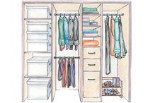 Tiny walk in wardrobe