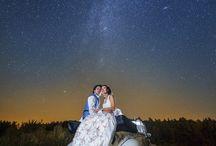 Night wedding photography inspiration