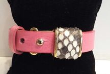 leather bracelets / Leather bracelets with python buckle