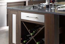 Wine Display and Storage / Unique and beautiful ways to display wine. #prescottkitchens www.PrescottKitchens.com