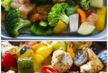 Healthy chicken and med veg