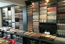 Showroom / Selection of carpets and flooring in our Cheltenham showroom.