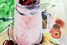 Paint food
