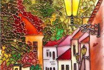 Ζωγραφική σε γυαλί- ψευδοβιτρό