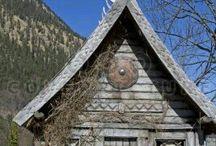 Reproduction village viking miniature maison ....