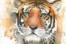 Animals watercolour
