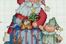 punto de cruz cuadros navidad