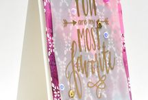 """Neat and Tangled Collaboration / Two designers form """"Neat and Tangled"""" will be showcasing projects made with Neat & Tangled stamps and Cosmo Cricket's new Just Add Watercolor line!"""