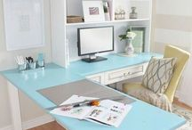 iWork, yay! / Ideas for a productive work space, or office, at home. / by Gina Moore