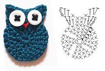 háčkované aplikace, crocheted application / by Věra Čermáková