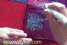 Brush Strokes-Coloring Fabric / by JoJosArtsiticDesign