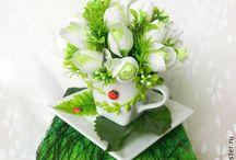 návod kvety-darček