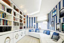 APARTAMENT W STYLU KALIFORNIJSKIM W WARSZAWIE / Projekt wnętrz apartamentu, Aranżacja, gabinet, tapeta, Aranżacja gabinetu, Projekt wnętrz, projekt, wnętrza, wnętrze, apartament, Projekt wnętrz apartament, styl kalifornijski, design, amerykański styl, kolor bieli, Tissu
