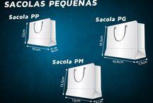 ► Sacolas Padronizadas ◄ / Aqui você tem as medidas dos principais tamanhos das mais utilizadas sacolas solicitadas pelos nossos clientes..