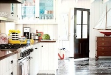 """Kitchen Obsessions  / Love the look and feel of wide open spaces and gorgeous embellishments, displays that really display in the """"heart of the home"""", the kitchen."""