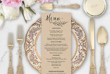 Wedding Menu / Menu Editable Template, Printable