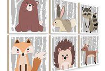 Nursery woodland prints