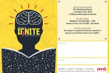 Design Portfolio: IGNITE / IGNITE was a tri-city (Chandigarh, Panchkula & Mohali) based Inter-School Quiz Competition, organised by Make A Difference. It was held on October 31, 2015. IGNITE envisaged not only to tap-in and nurture the inquisitive and ignited young talent in the tricity by providing them a quality platform but also mobilize the youth to engage with the society and connect to the children in shelter homes.