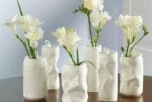 Bordpynt DIY-  lysestager, vaser - pynt / Bordpynt, lysestager, vaser som vi selv laver