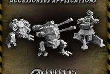 Orc accessories applications / Two photos showing few of the myriad possible orc war machines built from parts released by Puppets War. Most of parts visible on the photos were released last week, you can find all of them here: http://puppetswar.com/category.php?id_category=255