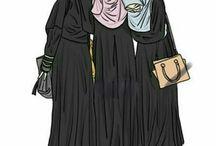 Cartoon niqab
