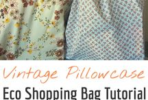 Shopping bag pillow case