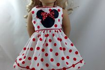 Minnie Mouse outfit / Red,black and white Minnie Mouse dress