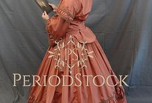 Historical gowns / 19th century style gowns, stock photography