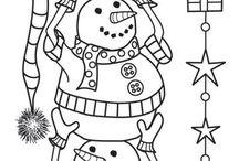 3 bonhomme de neige