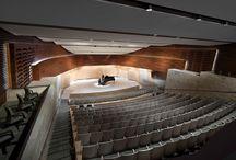 Concert halls + auditoriums