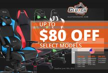 Gaming Chairs on SALE in USA / Clutch Chairz have a massive SALE of their GAMING CHAIRS! Limited quantities on select models!