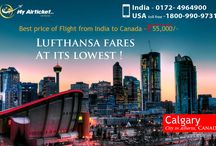 Flight from India to Calgary / Flight From India to Calgary to Travel.. #travel #flights #airfare #airline #Canada #India #airtickets #toronto#Newyork#international #myairticket #Cheapest #CALGARY http://www.myairticket.com/myairticket/india.php