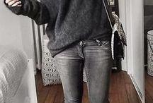 Grå bukse/ genser