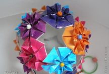 Origami Kusudama balls & Spheres  / diagrams and inspirations etc...
