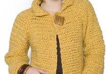 Casacos curtos crochet - tricot