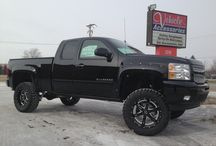 Wheels and Tires / People have different view on wheels and tires and what looks good on there vehicle.  Here is where you will find a variety of vehicles with different custom wheels and tires.  Some people like a truck with all season A/T All Terrain tires and other like the more aggressive look of M/T Mud terrain tires.