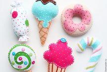 Dulces y helados en paño lency