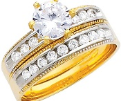 Engagement Ring & Wedding Bands  Anillos de Compromiso y Argollas de Matrimonio / The expressions of love. Las expresiones del amor.