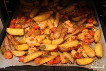 Kartoffeln mit Hähnchenbrust